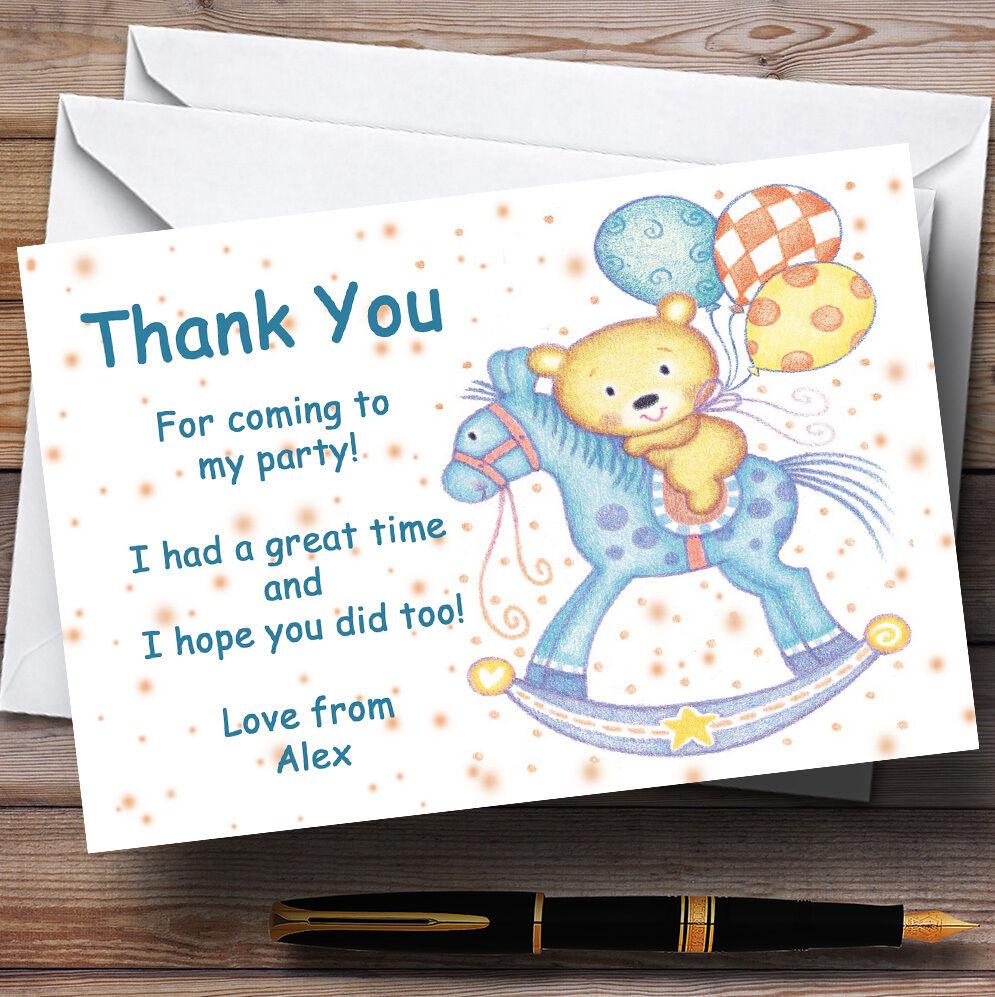 Cheval à remercier bascule bébé enfants partie personnalisés vous remercier à cartes e39055