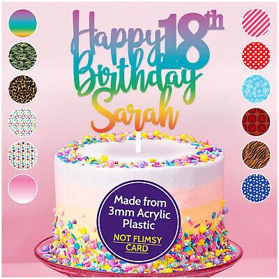Pleasing Personalised 18Th Birthday Cake Topper Any Age Any Name Birthday Personalised Birthday Cards Xaembasilily Jamesorg