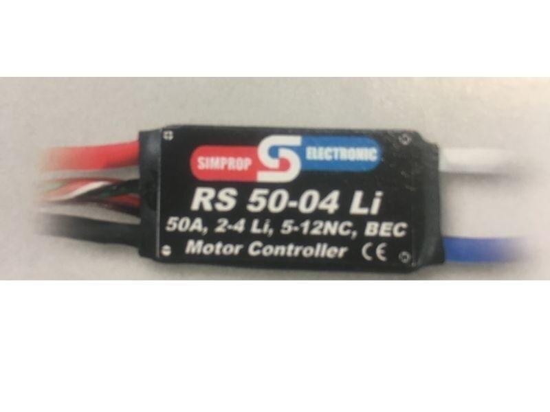 vendite online SIMPROP Electronic RS RS RS 50-04 li BRUSHED regolatore lipo-consentita - 0104949  il più economico