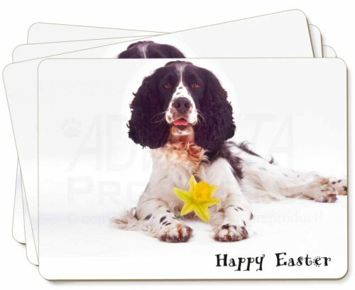 'Happy Easter' Springer Spaniel Picture Placemats in Gift Box, ADSS8DA1P