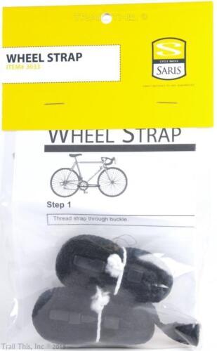 SARIS Bicycle Wheel Straps Bike Rack Wheel//Handlebar Holder Item # 3033 1-Pair