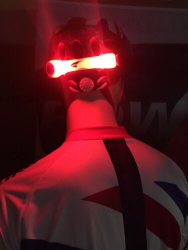 Super Bright LED Light for Bike Bicycle Cycle Helmet RED UK SUPPLIER