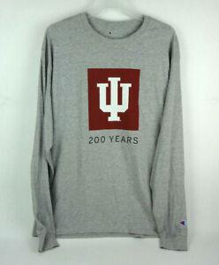 Champion-NWT-IU-Indiana-University-200-Years-Long-Sleeve-Shirt-Men-039-s-Large