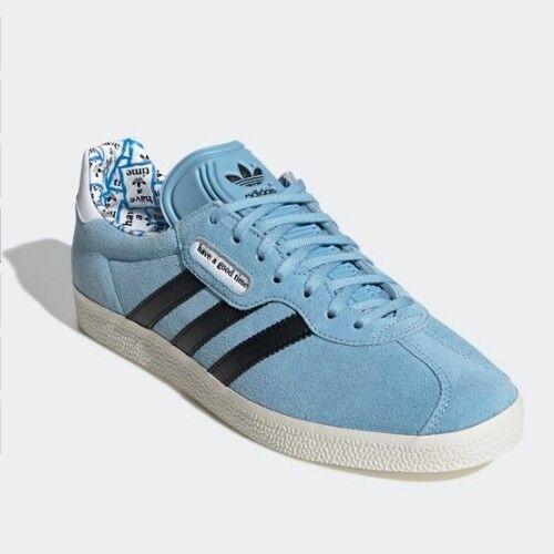 Nuevo Adidas X tener un buen Time hagt Gazelle Super Zapatos Tenis-Azul (G54785)