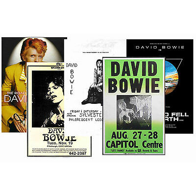DAVID BOWIE - SET OF 5 - A4 POSTER PRINTS # 1