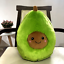 Cartoon avocado pillow fruit plush toy avocado doll