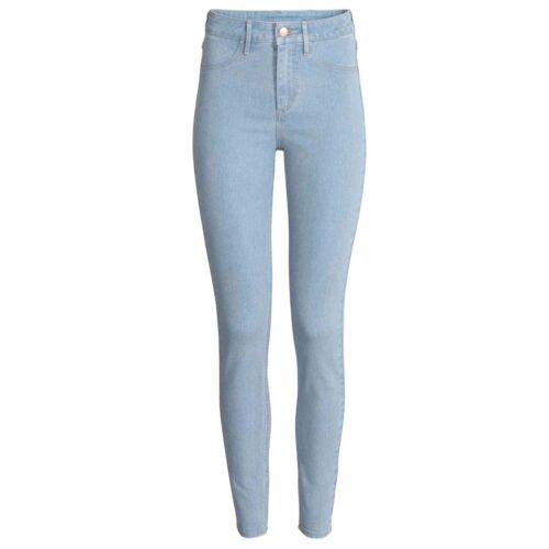 Ladies Skinny Jeans jegging Cotton Women Denim Stretch Slim Fit Plain Sizes 8-18