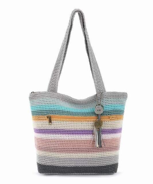 NWT The Sak Palm Springs Crochet Hobo Shoulder Bag Cloud Weave New SHIP INTL