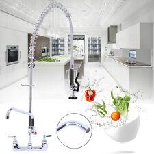 12 Wall Mount Kitchen Pre Rinse Faucet Swivel For Dish Washing Machine Black