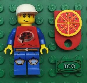 LEGO Pizza Delivery Minifigure CITY TOWN
