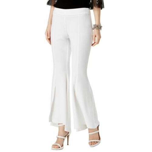 INC NEW Women/'s Curvy Fit Side-zip High-low Front-slit Flare Pants TEDO