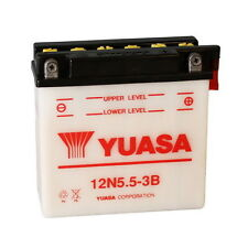 BATTERIA YUASA 12N5.5-3B, 5,5AH, POSITIVO DX, 135X60X130MM CODICE 0650634