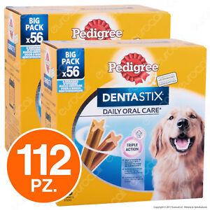 Pedigree-Dentastix-Large-per-l-039-igiene-orale-del-cane-2-Confezioni-da-56-Stick