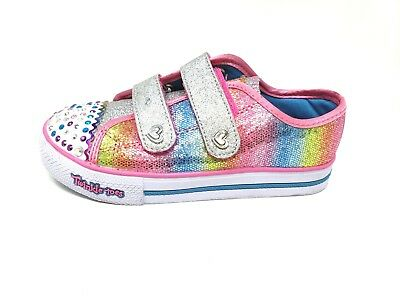 Girl/'s SKECHERS TWINKLE TOES SPARKLE KICKS 10696 171R sm New STEP UP