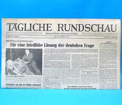 Ddr Tägliche Rundschau 19.02.1952 - Februar Geschenk Zum Geburtstag Hochzeitstag Schrumpffrei