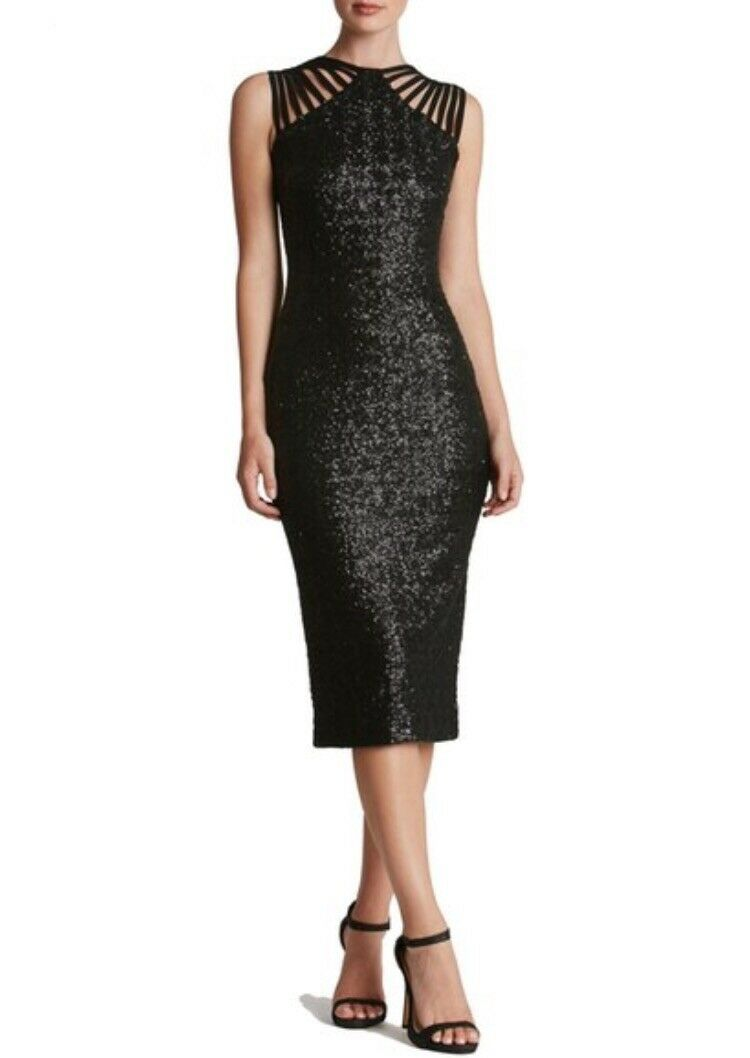 """NWT Dress The Population  Gwen"""" Sequin Midi Dress XS XS XS Extra Small Made in USA fe817c"""