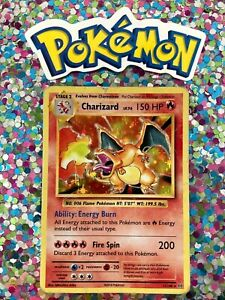 Classic-1st-Old-Base-Art-English-Charizard-Holo-Card-XY-Set-Non-Shadowless
