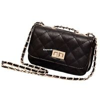 Women Leather Quilted Chain Satchel Crossbody Shoulder Bag Handbag Purse Clutch