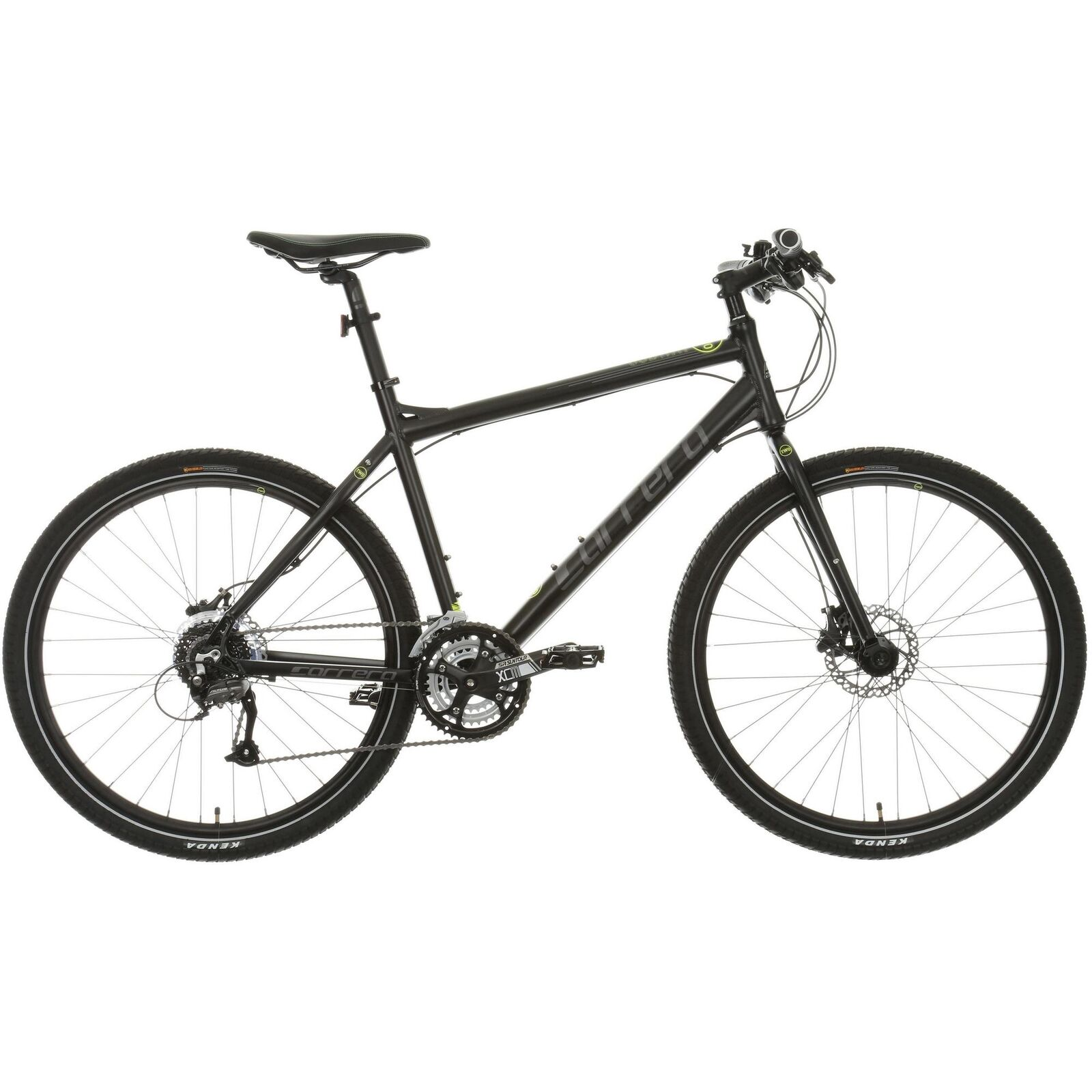 Carrera Subway 2 Hybrid Bike 27 Gears Lightweight Bicycle Disc Brake 27.5  Wheel