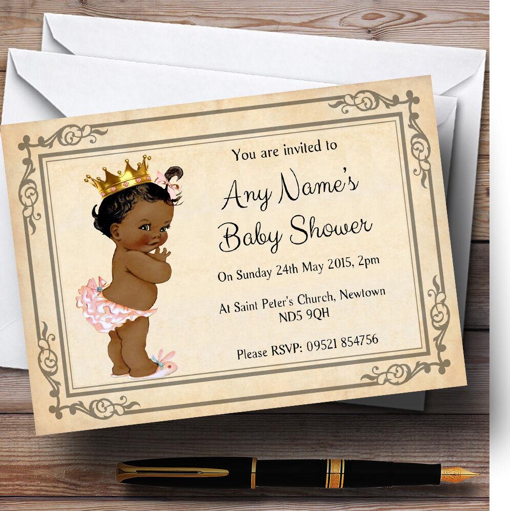 Baby Girl Personalised Dark Skin Baby Shower Personalised Girl