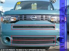 GTG Polished 3PC Overlay Combo Billet Grille Kit fits 2009 - 2011 Nissan Cube