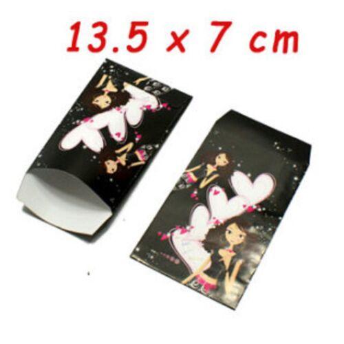 lot 50 pochettes sac sachet papier fantaisie 13 x 7 fille nr cadeaux,bijoux NEUF