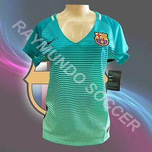 ee2d2d539dc Nike Barcelona 3rd Womens Jersey Green Glow 16 17 (free gift with ...