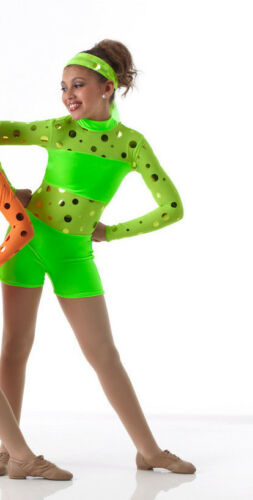 Hot Shots Jazz Tap Dance Costume Hip Hop PINK ORANGE GREEN Child /& Adult Groups!