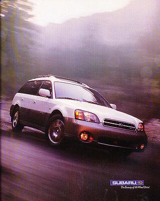 2001 Subaru Outback VDC 2-page Classic Car Advertisement Print Ad J86