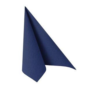 50 Servietten dunkelblau Hochzeit Taufe PapStar Royal Collection Tischläufer