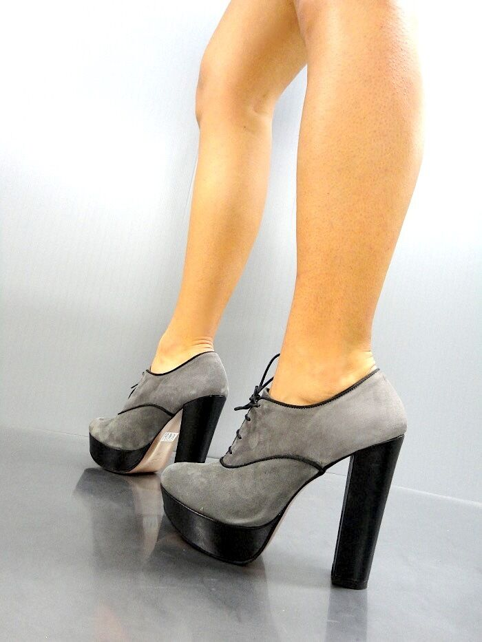 MORI ANKLE ITALY SEXY HIGH HEELS ANKLE MORI Schuhe BOOT STIEFEL PUMPS LEATHER GREY GRIGIO 36 ccf172