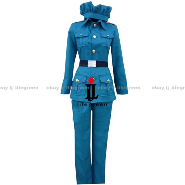 APH Axis Powers Hetalia Princess Cosplay Costume Dress Uniform Outfit