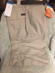 Columbia-Silver-Ridge-Cargo-Shorts-Khaki-Mens-Size-38-with-12-Inseam-NEW