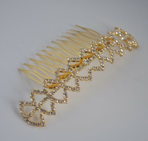 Clear crystal//diamante//rhinestone long decorative bridal//wedding hair comb slide