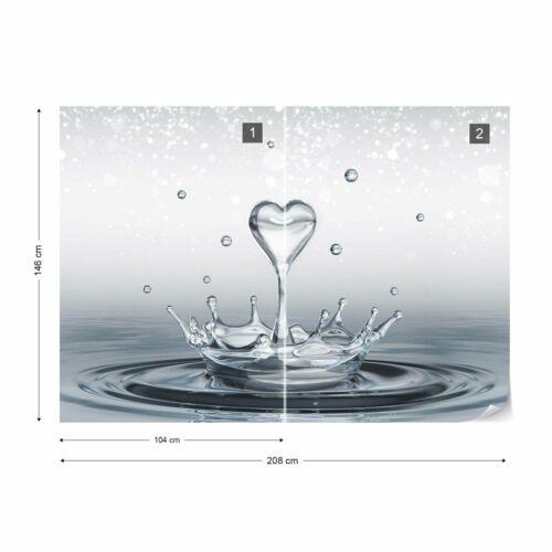 Tapete Fototapete Vlies Wassertropfen Herz