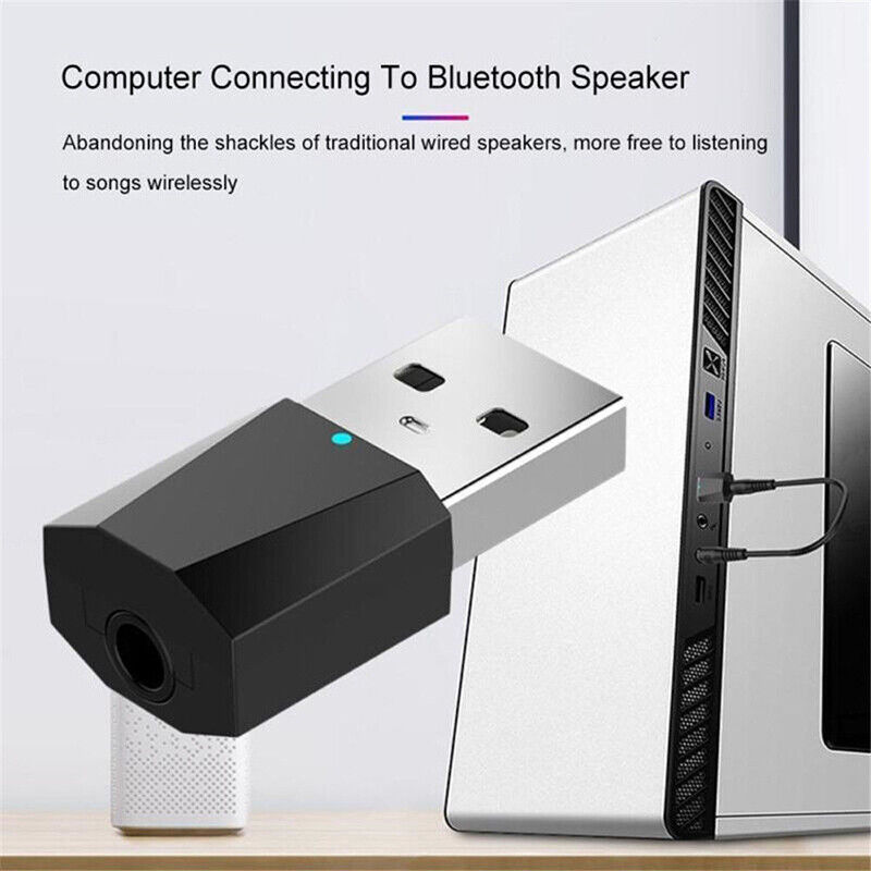 Mini USB Wireless Bluetooth 3.5 mm Audio Stereo Music Receiver Adapter AUX Car 4