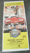 CORVETTE SUMMER ORIGINAL MOVIE CINEMA DAYBILL POSTER Mark Hamill STAR WARS 1978
