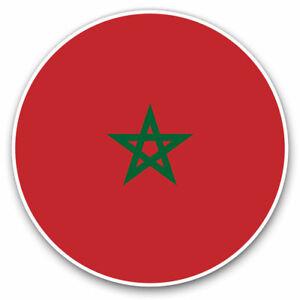 2-x-Vinyl-Stickers-7-5cm-Morocco-North-Africa-Rabat-Cool-Gift-9153