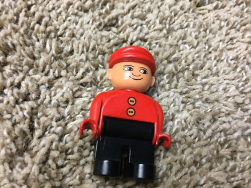 1 lego duplo vintage dad worker hat rare cow boy
