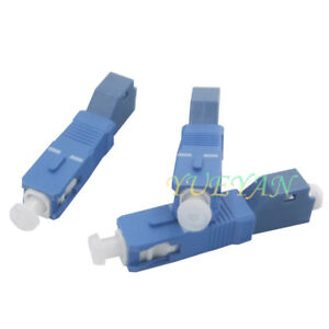 MagiDeal 2.5 to 1.25mm SC Male to LC Female Adapter Single Mode Fiber Optic Connector