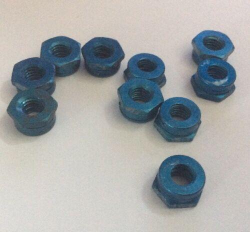 """NOS 1//4/"""" BSF All-metal Aluminium Thin Stiff Nut AGS2002//E3-66 qty 10 A"""