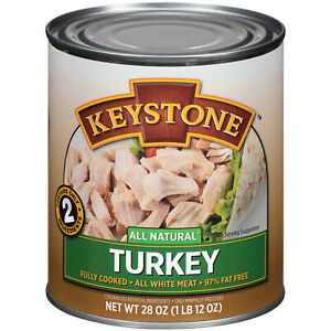6 Pack Keystone Meats All Natural Canned Turkey, 28 Ounce