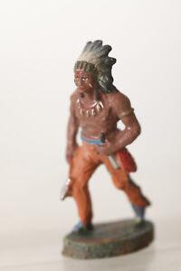 Buro Indianer Mit Tomahawk Und Messer Rational Elastolin 132 Vorkriegsmodell