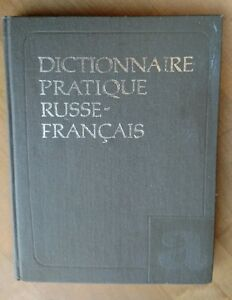 Russe-Francais-Dictionnaire-Russian-French-Dictionary-Pictorial-5000-words-1989