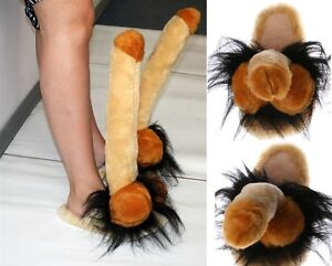 SLIPPERS-MEN-amp-WOMENS-WILLY-PENIS-PECKER-PLUSH-FUNNY-PERFECT-GIFT