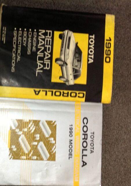 1990 Toyota Corolla Service Repair Shop Manual Set W