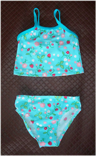 BATHERS TOGS Aqua Floral Cute 2 pc SWIMWEAR NEW Baby Sz 12 or 18 mths