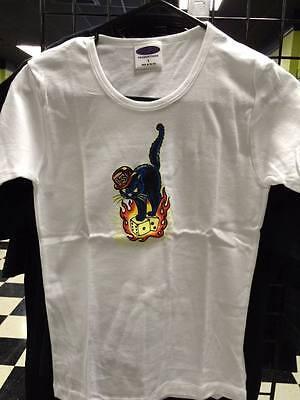 women/'s psychobilly t-shirt Unlucky Cat t-shirt Women/'s Rockabilly t-shirt