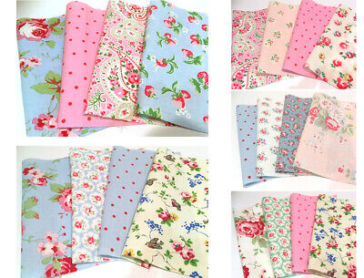 Cath Kidston Fabric Squares Bundle Cotton Patchwork Quilting Charm Pack 20 SQ
