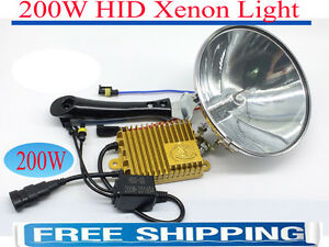 200W-HID-Xenon-HandHeld-18CM-Spotlight-Driving-Lights-Hunting-Camping-Lamp-Force